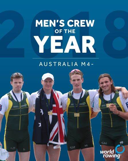 Australian men's 4 win the Crew of the Year at the 2018 World Rowing Awards