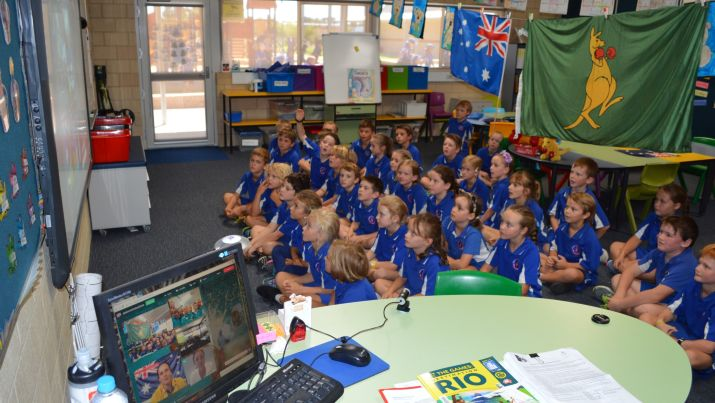Esperance Primary School share their experience chatting with Shannon Parry