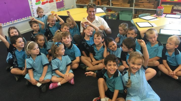 Kenny & Jacob visit Biggera Waters State Primary school