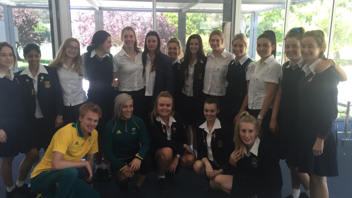 Merici girls treated to Olympian visit