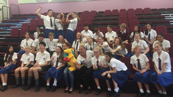 Olympians share sporting journeys with Queensland students