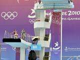 The girls' 10 metre platform preliminary diving at the Singapore 2010 Youth Olympic Games August 21,