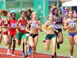 Jenny Blundell compete during girls 1000m qualification match at the Singapore 2010 Youth Olympic Games