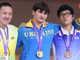 (From left to right) Felipe Almeida Wu of Brazil, Denys Kushnirov of Ukraine, and Choi Daehan of Korea