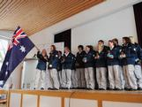Alpine skier Greta Small was named Team Flagbearer and Chef de Mission handed over the Australian flag.