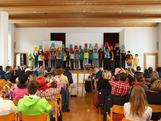 A class from the Offentliches Gymnasium der Franziskaner secondary school perform for the Australian Youth team during previews to the Winter Youth Olympic Games on January 10, 2012 in Innsbruck, Austria.