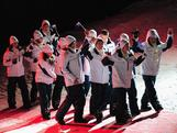 The Australian Team march into the Opening Ceremony of the Innsbruck 2012 Winter Youth Olympic Games.