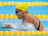 LONDON, ENGLAND - JULY 28:  Stephanie Rice of Australia swims breaststroke as she competes in heat four of the Women's 400m Individual Medley on Day One of the London 2012 Olympic Games at the Aquatics Centre on July 28, 2012 in London, England.