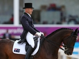 LONDON, ENGLAND - JULY 28:  Andrew Hoy of Australia riding Rutherglen competes in the Dressage Equestrian event on Day 1 of the London 2012 Olympic Games at Greenwich Park on July 28, 2012 in London, England.