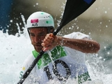 Warwick Draper of Australia competes during the Men's Kayak (K1) Canoe Slalom on Day 2 of the London 2012 Olympic Games at Lee Valley White Water Centre on July 29, 2012 in London, England.