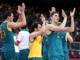 The Australia teams salutes the crowd after the game against Argentina  during Men's Volleyball on Day 2 of the London 2012 Olympic Games at Earls Court on July 29, 2012 in London, England.