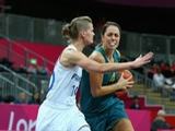 LONDON, ENGLAND - JULY 30:  Jenna O'Hea of Australia dribbles the ball during the Women's Preliminary Round match between Australia and France on day 3 of the London 2012 Olympic Games at Basketball Arena on July 30, 2012 in London, England.