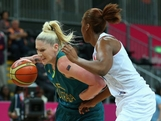 LONDON, ENGLAND - JULY 30:  Australian captain Lauren Jackson drives the ball during the Women's Basketball Preliminary Round match between Australia and France on day 3 of the London 2012 Olympic Games at Basketball Arena on July 30, 2012 in London, England.