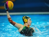 Ash Southern of Australia looks for a pass during the Women's Water Polo Preliminary match between Italy and Australia on Day 3 of the London 2012 Olympic Games  at Water Polo Arena on July 30, 2012 in London, England.
