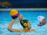 Gemma Beadsworth of Australia looks for a pass during the Women's Water Polo Preliminary match between Italy and Australia on Day 3 of the London 2012 Olympic Games  at Water Polo Arena on July 30, 2012 in London, England.