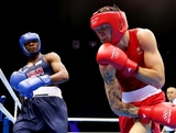 Damien Hopper of Australia (R) in action with Marcus Browne of United States during their Men's Light Heavy (81kg) Boxing on Day 3 of the London 2012 Olympic Games at ExCeL on July 30, 2012 in London, England.