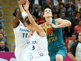 Belinda Snell of Australia shoots from halfway down the court to score three points and tie the Women's Basketball Preliminary Round match on Day 3 at Basketball Arena on July 30, 2012 in London, England.