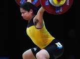 Seen Lee of Australia competes in the Women's 63kg Weightlifting final on Day 4 of the London 2012 Olympic Games at ExCeL on July 31, 2012 in London, England.