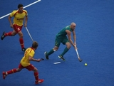 Glenn Turner of Australia of Spain in action during the Men's preliminary Hockey match on Day 5 of the London 2012 Olympic Games at Riverbank Arena on August 1, 2012 in London, England.