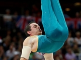 Joshua Jefferis of Australia competes on the parallel bars in the Artistic Gymnastics Men's Individual All-Around final on Day 5 of the London 2012 Olympic Games at North Greenwich Arena on August 1, 2012 in London, England.