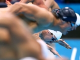 James Magnussen of Australia dives in the water at the start of the Men's 100m Freestyle on Day 5 of the London 2012 Olympic Games at the Aquatics Centre on August 1, 2012 in London, England.