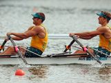 WINDSOR, ENGLAND - AUGUST 02:  Scott Brennan (L) and David Crawshay of Australia compete in the  Men's Double Sculls final B on Day 6 of the London 2012 Olympic Games at Eton Dorney on August 2, 2012 in Windsor, England.