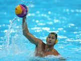 Thomas Whalen of Australia in action during the Men's Preliminary Round match between Spain and Australia on Day 6 of the London 2012 Olympic Games at the Water Polo Arena on August 2, 2012 in London, England.