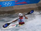 LONDON, ENGLAND - AUGUST 02:  Jessica Fox of Australia competes in the Women's Kayak Single (K1) Slalom on Day 6 of the London 2012 Olympic Games at Lee Valley White Water Centre on August 2, 2012 in London, England.
