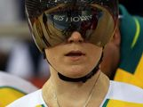 Anna Meares of Australia looks on during Women's Sprint Track Cycling Qualifying on Day 6 of the London 2012 Olympic Games at Velodrome on August 2, 2012 in London, England.