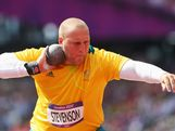 Dale Stevenson of Australia competes in the Men's Shot Put qualification on Day 7 of the London 2012 Olympic Games at Olympic Stadium on August 3, 2012 in London, England.