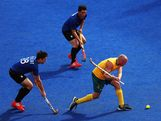Glenn Turner of Australia in action during the Men's Hockey preliminary match between Australia and Argentina on Day 7 of the London 2012 Olympic Games at Riverbank Arena on August 3, 2012 in London, England