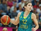 Belinda Snell #12 of Australia handles the ball during the Women's Basketball Preliminary Round match against Russia on Day 7 of the London 2012 Olympic Games at Basketball Arena  on August 3, 2012 in London, England.