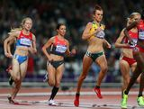Eloise Wellings of Australia competes in the Women's 10,000m Final on Day 7 of the London 2012 Olympic Games at Olympic Stadium on August 3, 2012 in London, England.