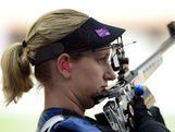 Robyn Van Nus of Australia competes during Women's 50m Rifle 3 Positions Shooting Qualification on Day 8 of the London 2012 Olympic Game at the Royal Artillery Barracks on August 4, 2012 in London, England.