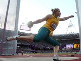 Dani Samuels of Australia competes in the Women's Discus Throw Final on Day 8 of the London 2012 Olympic Games at Olympic Stadium on August 4, 2012 in London, England.