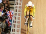 LONDON, ENGLAND - AUGUST 05:  Anna Meares of Australia competes during the Women's Sprint Track Cycling Qualifying on Day 9 of the London 2012 Olympic Games at Velodrome on August 5, 2012 in London, England.