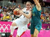 Courtnay Pilypaitis #7 of Canada drives the ball against Jenna O'Hea #4 of Australia during the Women's Basketball Preliminary Round match on Day 9 of the London 2012 Olympic Games at the Basketball Arena on August 5, 2012 in London, England.