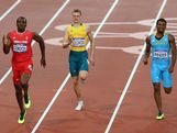 (L-R) Lalonde Gordon of Trinidad and Tobago, Steven Solomon of Australia and Demetrius Pinder of the Bahamas competesin the Men's 400m Semi Final on Day 9 of the London 2012 Olympic Games at the Olympic Stadium on August 5, 2012 in London, England.