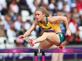 LONDON, ENGLAND - AUGUST 06:  Sally Pearson of Australia competes in the Women's 100m Hurdles heat on Day 10 of the London 2012 Olympic Games at the Olympic Stadium on August 6, 2012 in London, England.