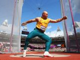 LONDON, ENGLAND - AUGUST 06:  Scott Martin of Australia competes in the Men's Discus Throw qualification on Day 10 of the London 2012 Olympic Games at the Olympic Stadium on August 6, 2012 in London, England.