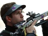 LONDON, ENGLAND - AUGUST 06:  Dane Kevin Sampson of Australia competes during the Men's 50m Rifle 3 Positions Shooting on Day 10 of the London 2012 Olympic Game at the Royal Artillery Barracks on August 5, 2012 in London, England.