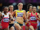 Kaila McKnight of Australia competes in the Women's 1500m heat on Day 10 of the London 2012 Olympic Games at the Olympic Stadium on August 6, 2012 in London, England.