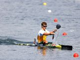 Murray Stewart of Australia competes in the Men's Kayak Single (K1) 1000m Canoe Sprint semifinal on Day 10 of the London 2012 Olympic Games at Eton Dorney on August 6, 2012 in Windsor, England.