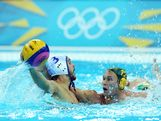 Billy Miller (R) #12 of Australia defends against Andreas Miralis #3 of Greece during the Men's Preliminary Round Group A match between Greece and Australia on Day 10 of the London 2012 Olympic Games at Water Polo Arena on August 6, 2012 in London, England.