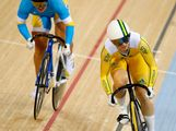 Anna Meares (R) of Australia competes against Lyubov Shulika of the Ukraine during the Women's Sprint Track Cycling Quarter Finals on Day 10 of the London 2012 Olympic Games at Velodrome on August 6, 2012 in London, England.