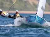 Mathew Belcher and Malcolm Page of Australia compete in the Men's 470 Sailing on Day 10 of the London 2012 Olympic Games at the Weymouth & Portland Venue at Weymouth Harbour on August 6, 2012 in Weymouth, England.