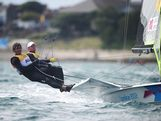 Nathan Outteridge and Iain Jensen of Australia compete in the Men's 49er Sailing on Day 10 of the London 2012 Olympic Games at the Weymouth & Portland Venue at Weymouth Harbour on August 6, 2012 in Weymouth, England.