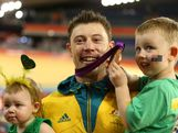 Bronze medallist Shane Perkins of Australia celebrates with his family after the medal ceremony for the Men's Sprint Track Cycling Final on Day 10 of the London 2012 Olympic Games at Velodrome on August 6, 2012 in London, England.