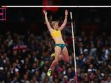 Alana Boyd of Australia reacts clears the bar in the Women's Pole Vault final on Day 10 of the London 2012 Olympic Games at the Olympic Stadium on August 6, 2012 in London, England.