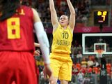 Kristi Harrower #10 of Australia puts up a shot against China during the Women's Basketball quaterfinal on Day 11 of the London 2012 Olympic Games at the Basketball Arena on August 7, 2012  in London, England.